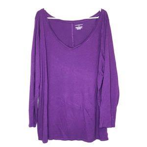 Lane Bryant long sleeve shirt size 22/24 purple